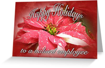 Employee happy holidays greeting card red and white poinsettia employee happy holidays greeting card red and white poinsettia by mothernature m4hsunfo