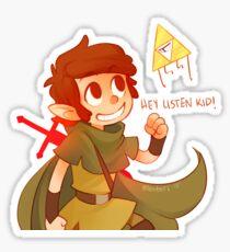 Hey Listen Kid! Sticker
