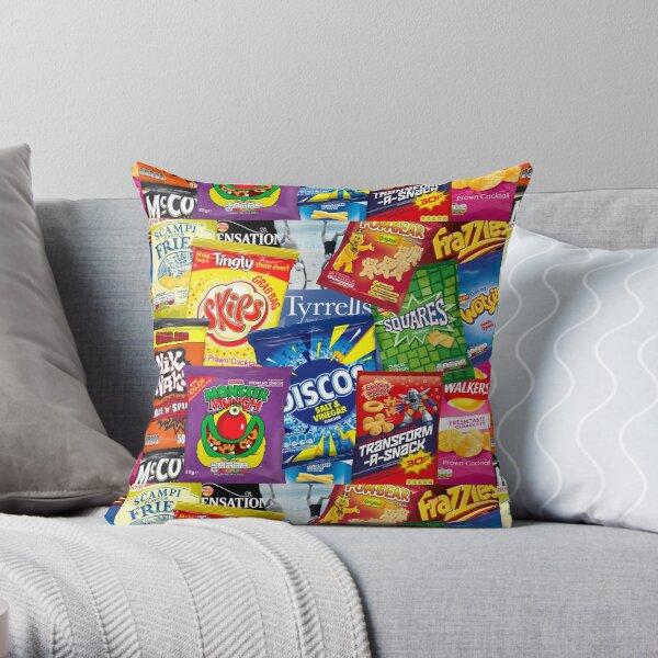 British crisps potato chips assortment  Throw Pillow