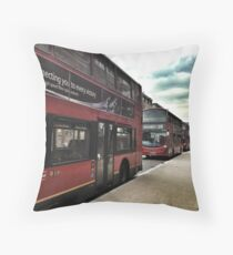 London Buses Throw Pillow