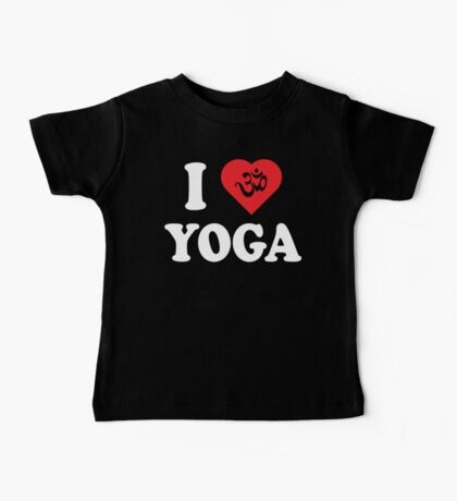 I Love Yoga T-Shirt Kids Clothes