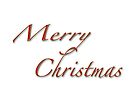 Merry Christmas Greeting Card - White With Red Text by MotherNature