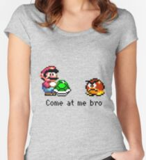 Come at me Bro (Mario) Women's Fitted Scoop T-Shirt