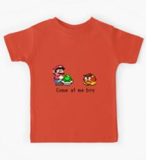 Come at me Bro (Mario) Kids Clothes