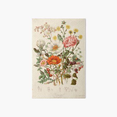 fleurs vintage Impression rigide