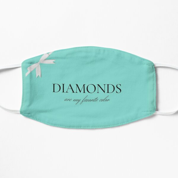 Diamonds Are My Favorite Color Flat Mask