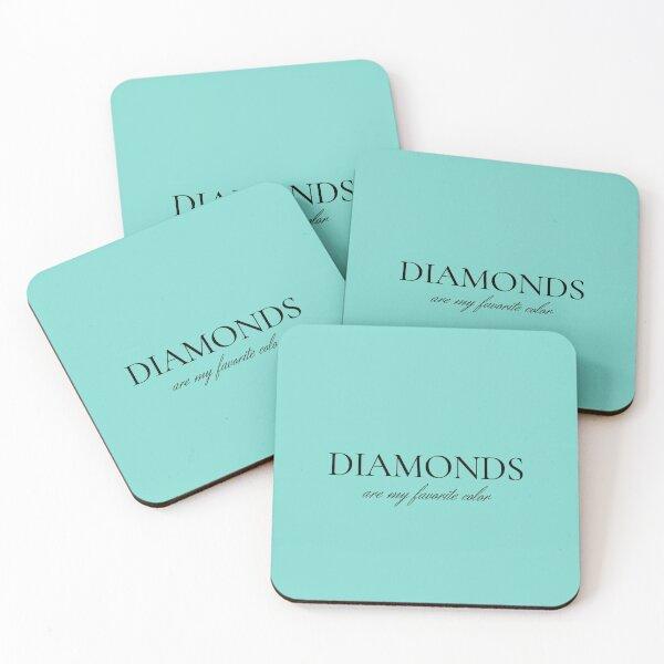 Diamonds Are My Favorite Color Coasters (Set of 4)