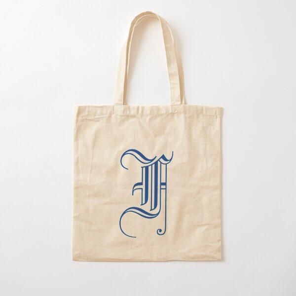 F letter Cotton Tote Bag