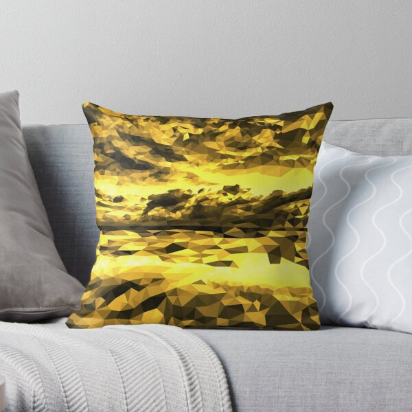Imposing Yellow and Black Throw Pillow