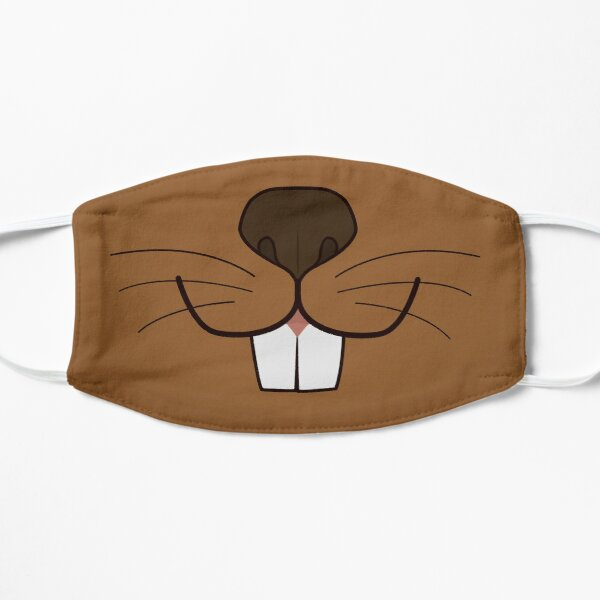 Beaver Booper Flat Mask