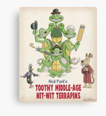 Nick Park's TMNT Canvas Print