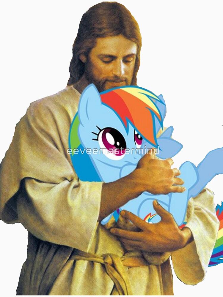 Jesus Loves Rainbow Dash | Unisex T-Shirt