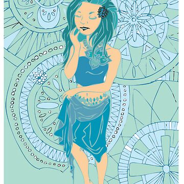 Blue Woman by millecar