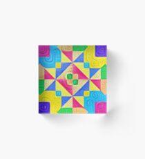 #DeepDream Color Squares Visual Areas 5x5K v1448168644 Acrylic Block