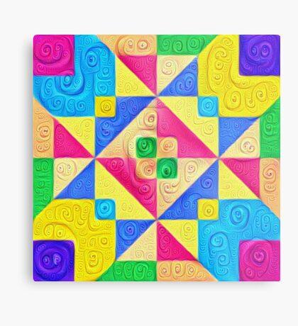 #DeepDream Color Squares Visual Areas 5x5K v1448168644 Metal Print