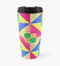 #DeepDream Color Squares Visual Areas 5x5K v1448168644 Travel Mug