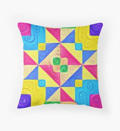 #DeepDream Color Squares Visual Areas 5x5K v1448168644 Throw Pillow