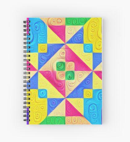 #DeepDream Color Squares Visual Areas 5x5K v1448168644 Spiral Notebook