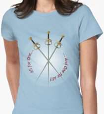 Musketeer Mantra Womens Fitted T-Shirt