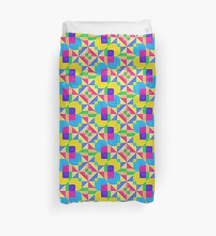 #DeepDream Color Squares Visual Areas 5x5K v1448168644 Duvet Cover