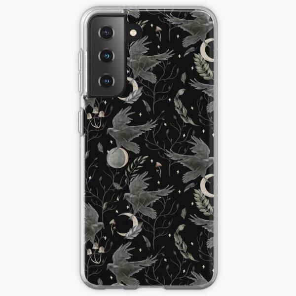 watercolor crow Samsung Galaxy Soft Case