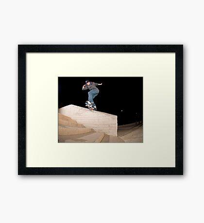 Josh Kalis SW Back Tail, AZ, Photo by Joe Hammeke Framed Print