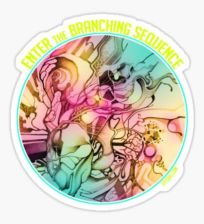 Enter the Branching Sequence - Sketch Pencil Illustration Sticker