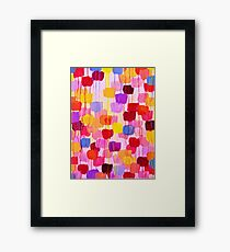 DOTTY in Pink - October Special Revisited Bold Colorful Polka Dots Original Abstract Painting Framed Print