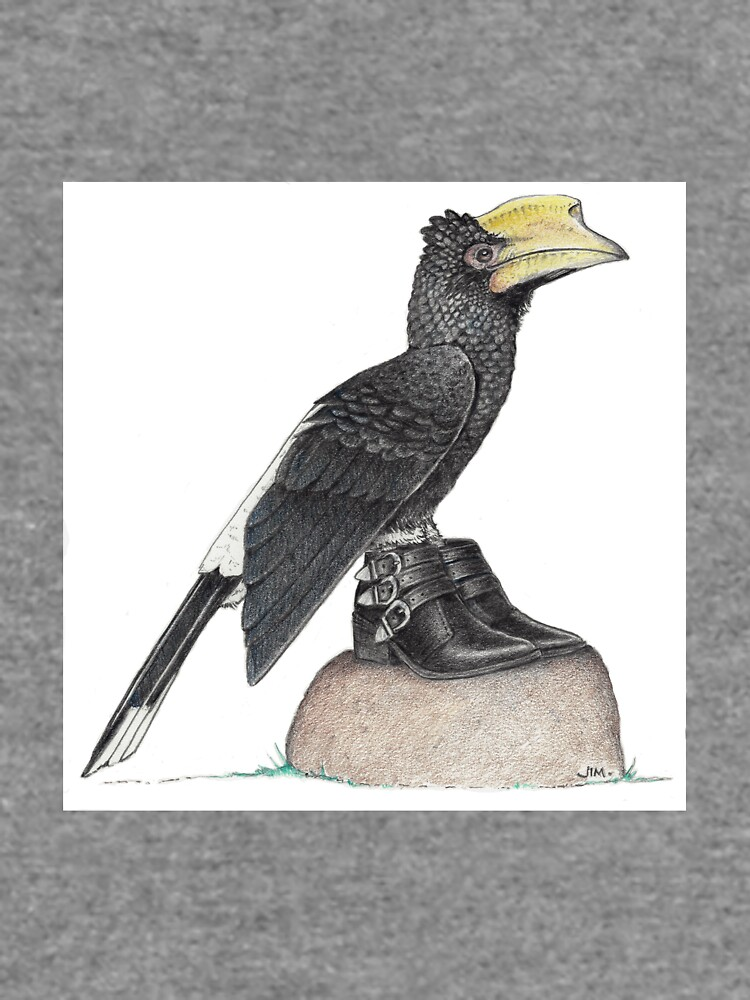 Hornbill in buckle shoes by JimsBirds