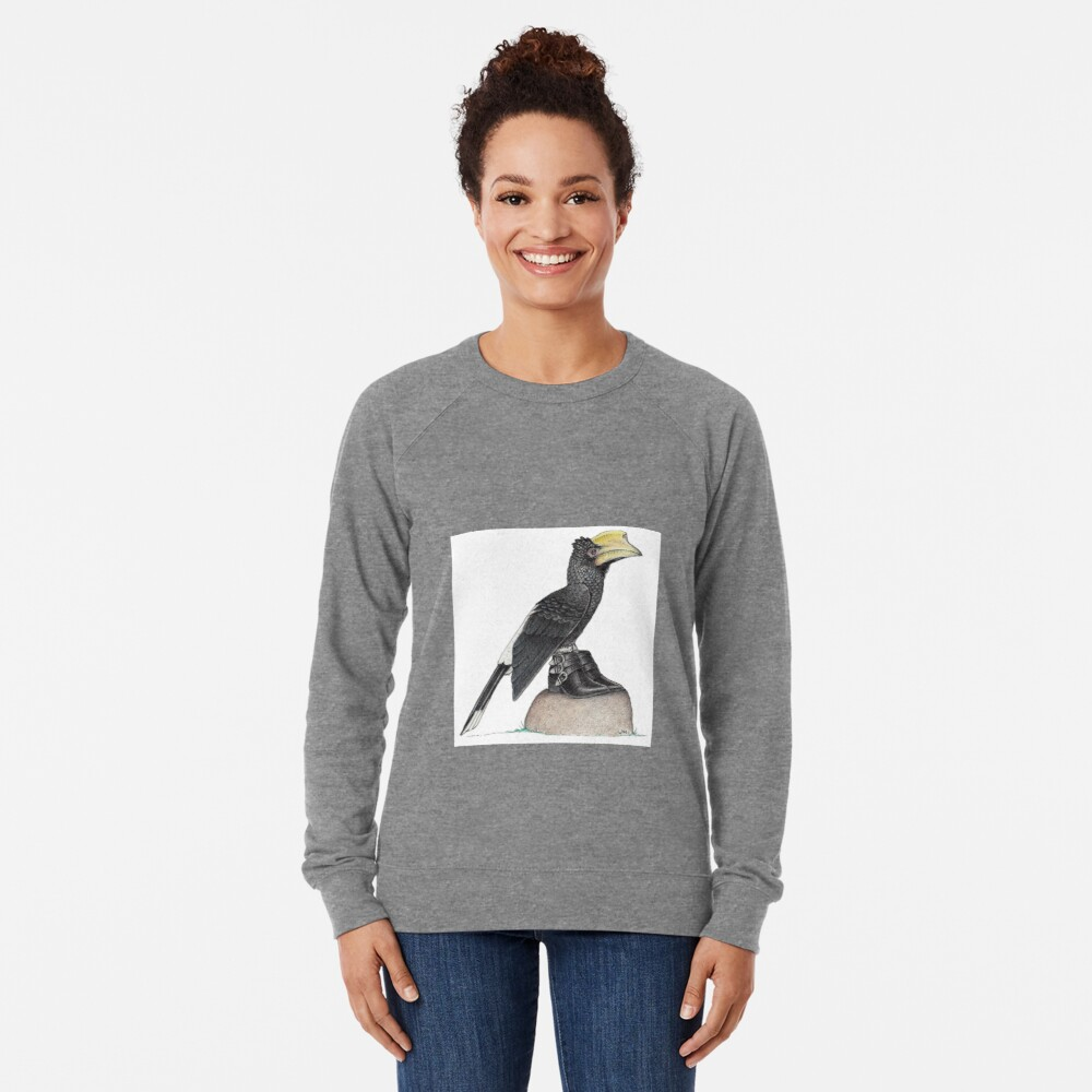 Hornbill in buckle shoes Lightweight Sweatshirt