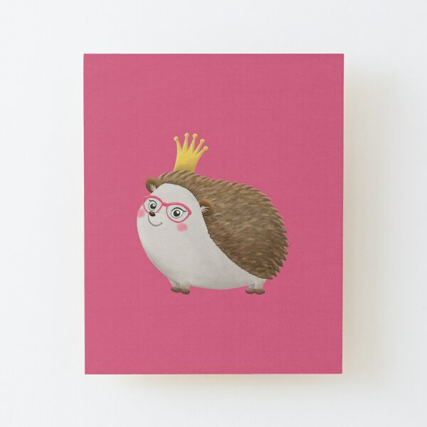 Queen Hedgie (no background version) Wood Mounted Print