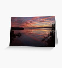 Blue October, Jordan Lake, NC Greeting Card