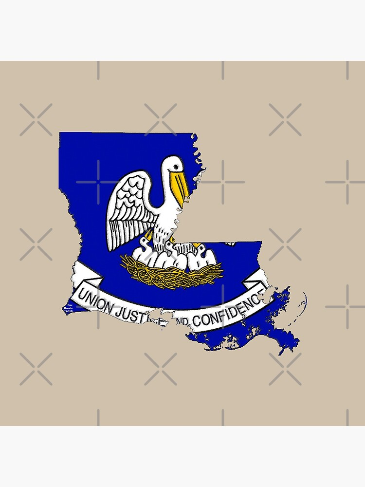 Louisiana Map with Louisiana State Flag by Havocgirl