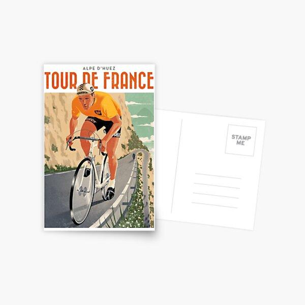 Travel Poster - Alpe D'Huez - Tour de France Postcard