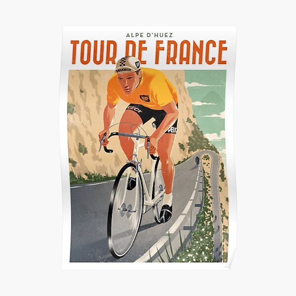 Travel Poster - Alpe D'Huez - Tour de France Poster