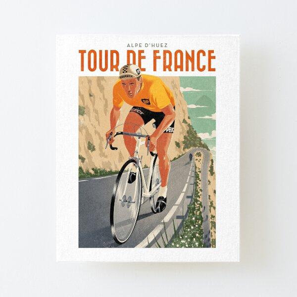 Reiseplakat - Alpe D'Huez - Tour de France Aufgezogener Druck auf Leinwandkarton
