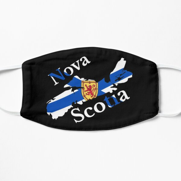 Nova Scotia Flag Map, NS, Canada Mask