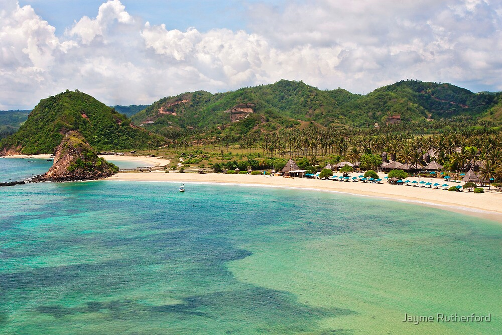 Landscape of Kuta Lombok  Indonesia by Jayme Rutherford
