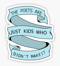 Poets in Blue Sticker