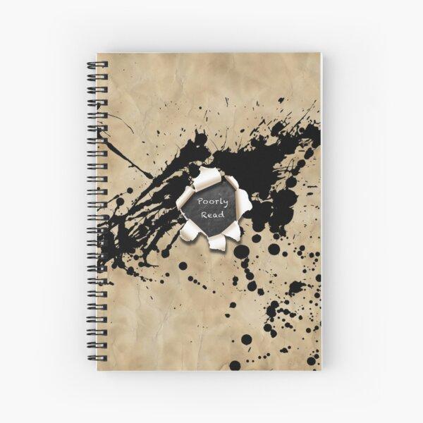'Poorly Read' Logo Spiral Notebook