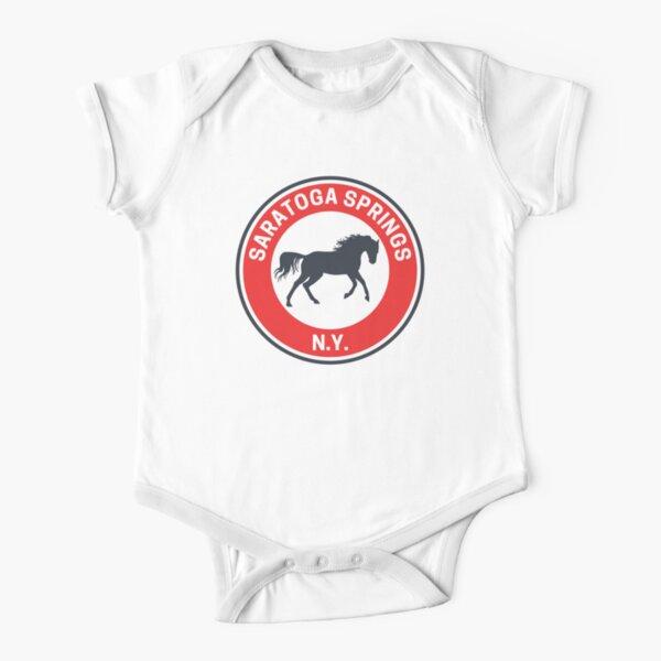 Vintage Saratoga Springs New York Short Sleeve Baby One-Piece