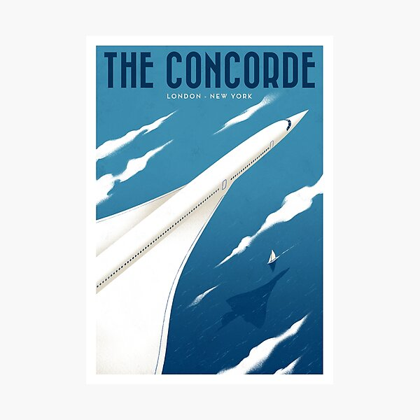 Travel Posters - The Concorde Photographic Print