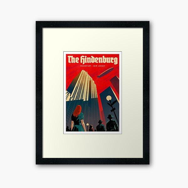 Travel Posters - The Hindenburg Framed Art Print