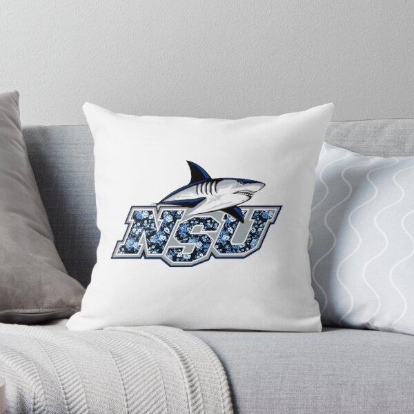 Logo du requin imprimé de la Nova Southeastern University Coussin