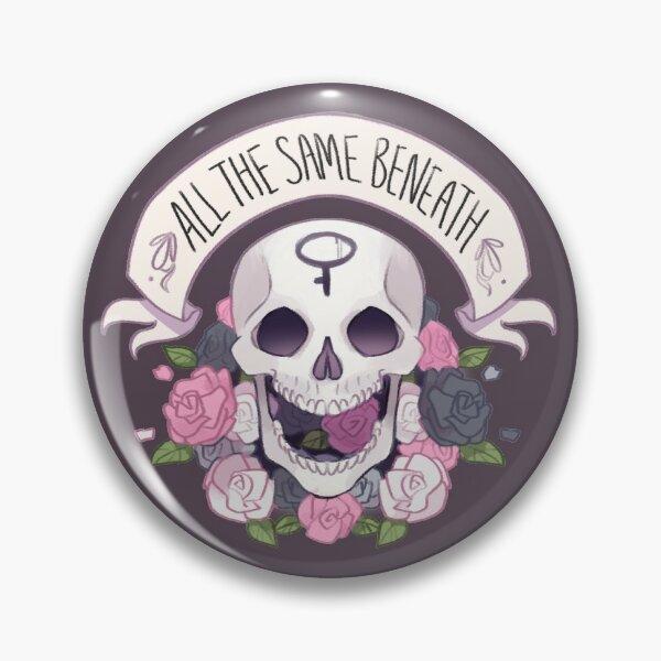 Pride Skull - Demigirl Pin