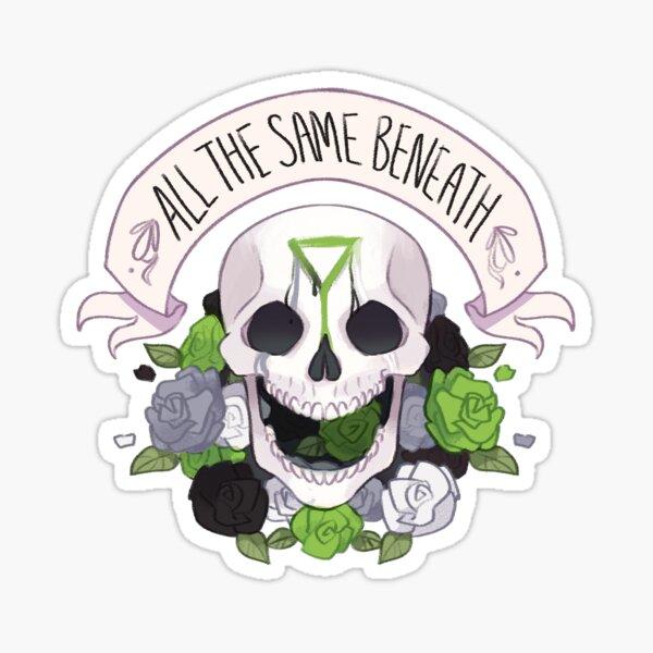 Pride Skull - Demiromantic Sticker