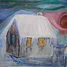 Siberian cottage (in winter) by Ruth Vilmi