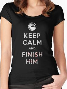 Keep Calm and Finish Him Women's Fitted Scoop T-Shirt