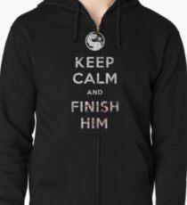 Keep Calm and Finish Him Zipped Hoodie