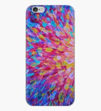 Vinilo o funda para iPhone SPLASH, Revisited - Bold Beautiful Romance Femenino Ocean Beach Waves Abstract Acrylic Magenta Crimson